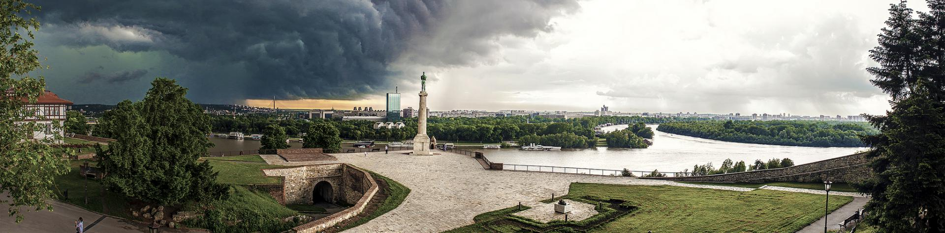 Kalemegdan fortress in Belgrade Chasing the Storm